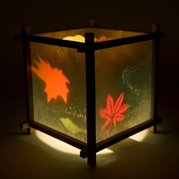 Fallen Leaves Paper Lanterns, Decorative Lantern, Spinning Lamp, Small Lamp, Kids Night Light