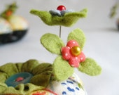 Pin Toppers - Set of 2 Bitty Blossom Pins - CUSTOM MADE to Match Your Pincushion