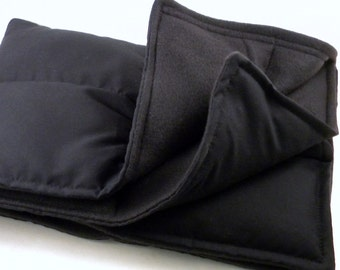 XL Bed Warmer Body Warmer, XL Hot Cold Therapy Pack, Lap Blanket, black Large Microwave Heating Pad
