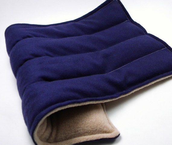 SALE - LARGE Lumbar Back - Hot Cold Therapy Pack - navy, tan