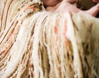 Baby Blanket, Fringe Blanket, Fringe Photo Prop, Beige Throw, Newborn Nest