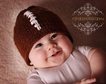 Baby Hat, NFL Football Knit Newborn Hat, Baby Photo Prop, Newborn Photo Props, knit baby hat