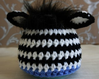 Baby Hat, Newborn Baby Hat, Little Zebra Hat, Baby Boy Hat,  Knit Newborn Hat, Baby Photo Prop