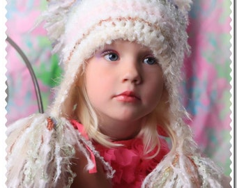 Girl's Hat With Extra Large Tassles, Toddler Hat, Photo prop