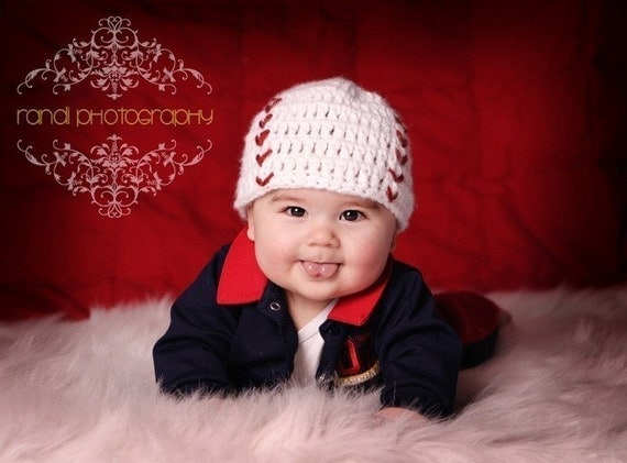 FREE SHIPPING Baseball Fan Baby Hat Super Cool Photo Prop, Images by Randi Kampeter