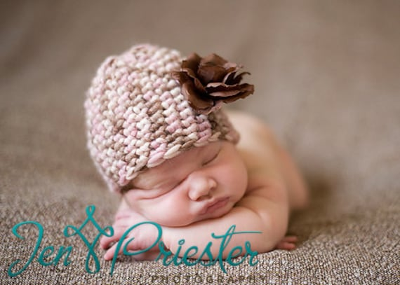 Baby Hat, Newborn Photo Prop, Newborn Baby Girl Beanie, Newborn Knit Hat, Photo Prop