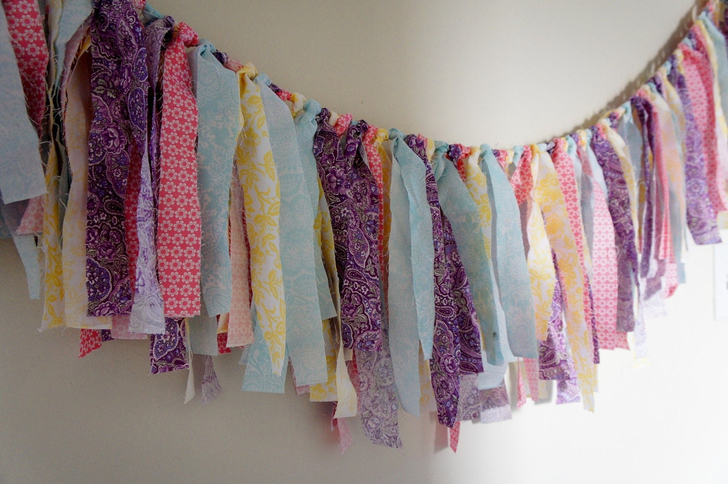 SALE 20OFF Wedding Decor Banner Pastel Pink And