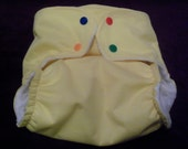 One Size Fits All OS Cloth Pocket Diaper With PUL Waterproof Outer Layer Silly Snaps