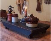 Farmhouse Table Riser Bench Primitive Kitchen Riser Handmade Lamp Black