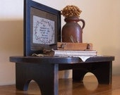 Primitive Oval Riser Bench / Step Stool Foot Stool / Farmhouse Charm / Lamp Black / Color Choice