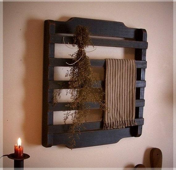 Olde Farmhouse Colonial Towel or Dry Rack / Washroom / Kitchen / Primitive Needful / Custom Colors