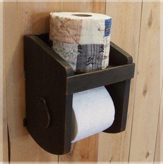 Primitive toilet paper holder for the bathroom by sawdusty Wood toilet paper holders