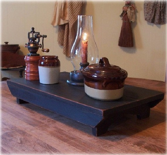 Rustic farmhouse table riser bench primitive kitchen