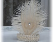 100 Bleached Peacock Feather Napkin Rings - Deposit Listing