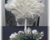 Supplemental Listing for Patricia - RUSH ORDER 2 Bridesmaid Fans and 5 Boutonnieres - 8-25-2012 - 50% DEPOSIT