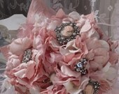Marie Antoinette Pink Parisian Brooch Bouquet RESERVED for Julianna