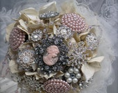 Brooch Bouquet in Your Choice of Colors and Style - 50% DEPOSIT LISTING