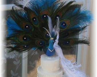 Exquisite Peacock Pair Cake topper - CUSTOM Created for You