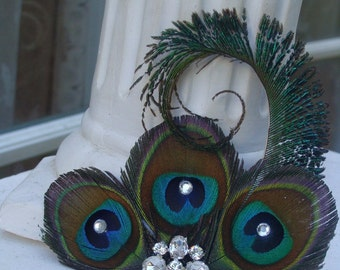 Peacock Elegance Hair Fascinator