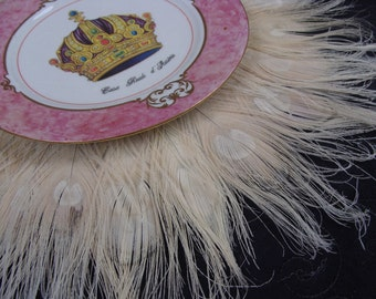 "SALE!  Peacock Feather 16"" Place Mat in your choice of colors"
