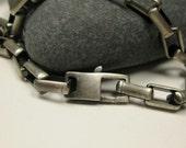 "Sterling Chunky Link Bracelet  Unisex - 8 3/4"" long"