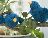 Bluebird Toy Stocking Stuffer, Bird Decor, Bird Toy, Bird Amigurumi,  Waldorf Toy, Hand Knit Toy, Knit Bird, Stocking Stuffer