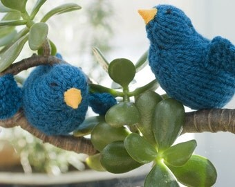 Bluebird Toy, Bird Decor, Bird Toy, Bird Amigurumi,  Waldorf Toy, Hand Knit Toy, Knit Bird, Stocking Stuffer