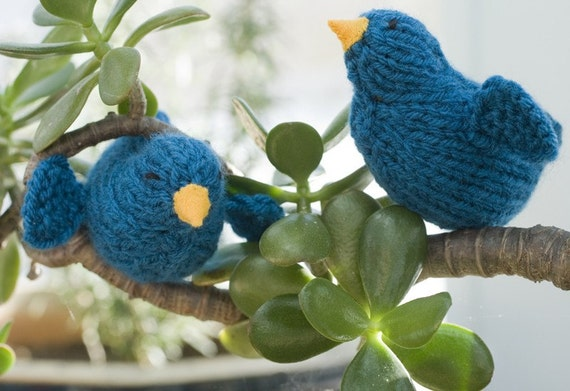 Bluebird Toy Stocking Stuffer, Bird Decor, Bird Toy, Bird Amigurumi,  Waldorf Toy, Hand Knit Toy, Knit Bird