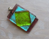Dichroic - Blue and Green Pendant
