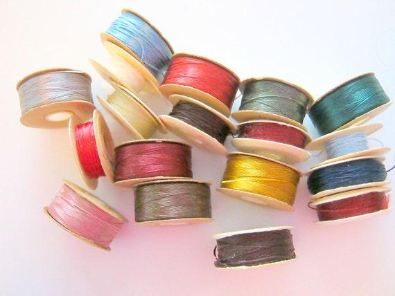 18 Colors Nylon Bead Thread Spools