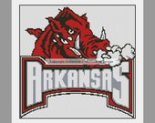 Arkansas Razorbacks University College PDF Cross Stitch Pattern -- SIX Designs to Choose From