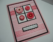 SALE - Quilled Birthday Wishes Card