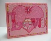 Pink Love Valentines Day Card