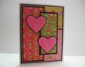 Neon Hearts Valentines Day Card