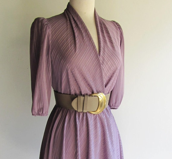 70s WRAP Front DRESS with Half CIRCLE Skirt for Flare, Small size 4 or 6