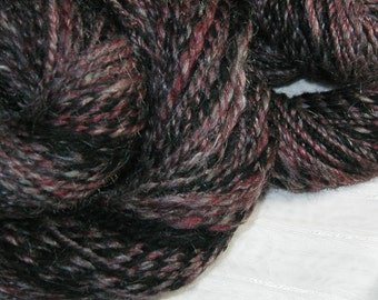 Red Granite handspun merino two ply yarn scarf set