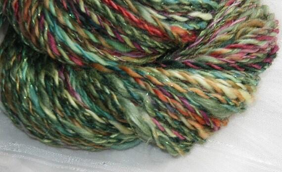 Flora handspun two ply yarn