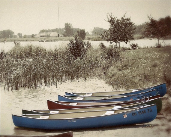 Canoes at Maumee Bay