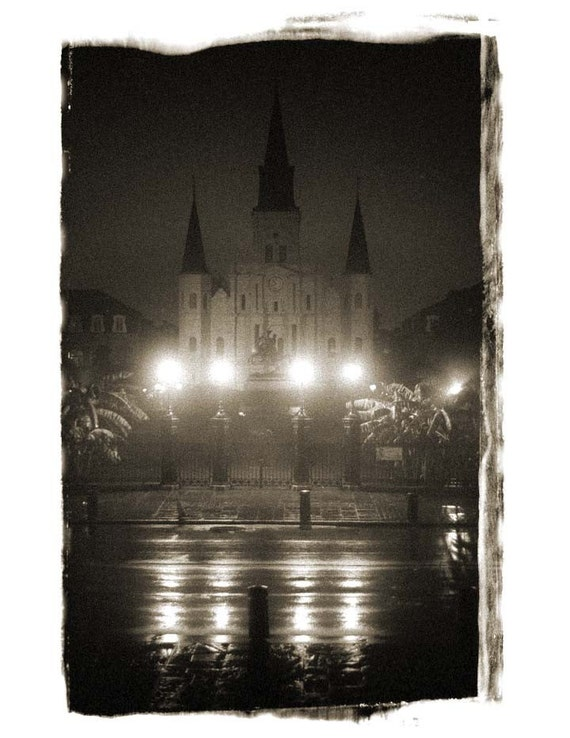 St. Louis Cathedral, Foggy and Perfect, New Orleans, LA,  Fine art Photograph