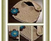 February Knit-Along Pattern - Garter Stitch Baby Bib PDF