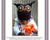 Ollie Owl Hat Pattern PDF
