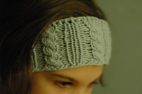 March Knit-Along Pattern - Cabled Ear Warmer (both Child and Adult sizes) PDF...