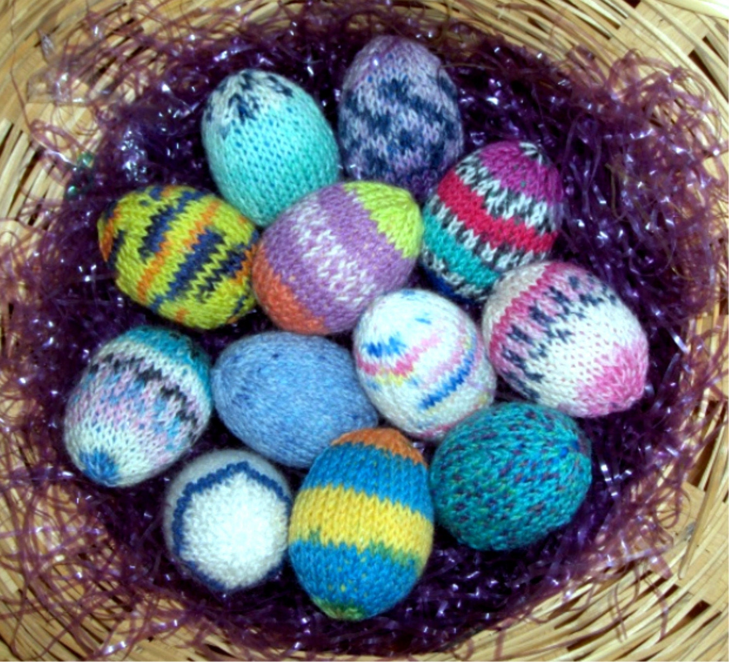 Knitting Easter Eggs : Knitted sock yarn easter egg pattern by mamabakalama on etsy