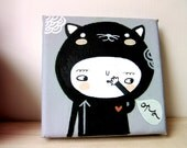 OPS mini acrylic painting on canvas - nursery art Made To Order