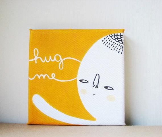 HUG ME mini painting on canvas