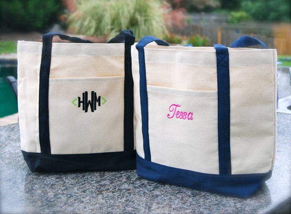 Personalized Canvas Tote Bag - Boat