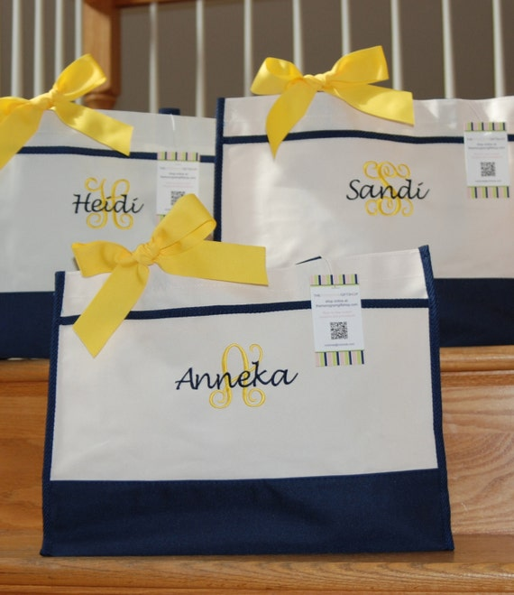 Customer providing shipping - list for 9 with bows - Personalized Tote Bags