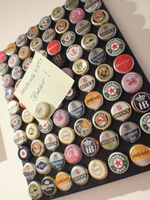 80 Bottles of Beer on the Wall Upcycled Magnet Board - 100% Handmade Schickie Mickie Original
