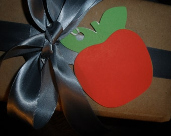Attractive Red Apple Gift Tag ( Set of 6 )