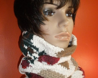 Fabulous Knitted Sweater Neckwarmer Tube Scarf